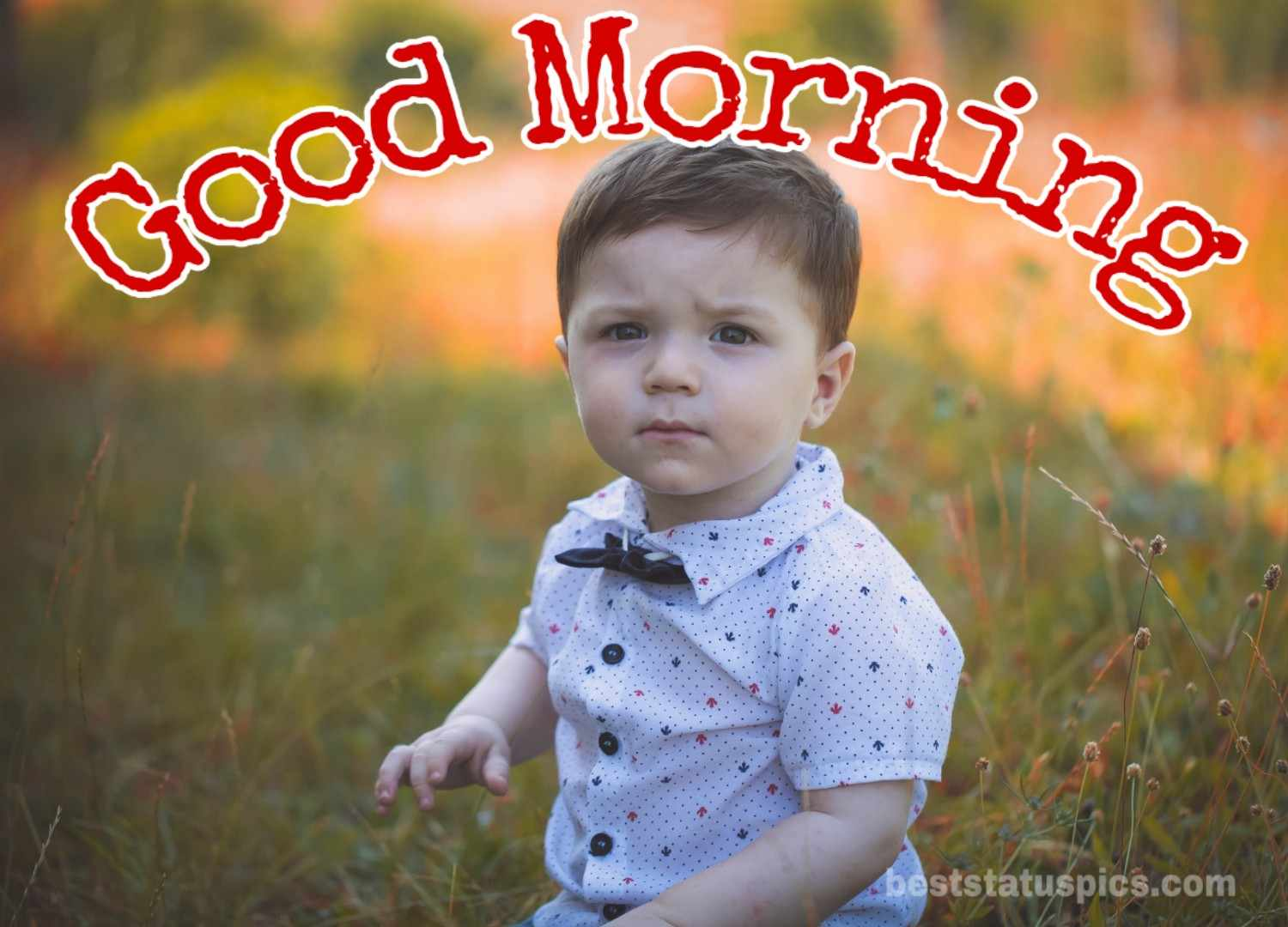 Cute baby boy good morning images in hd