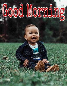 Sweet good morning baby boy images for instagram dp and facebook