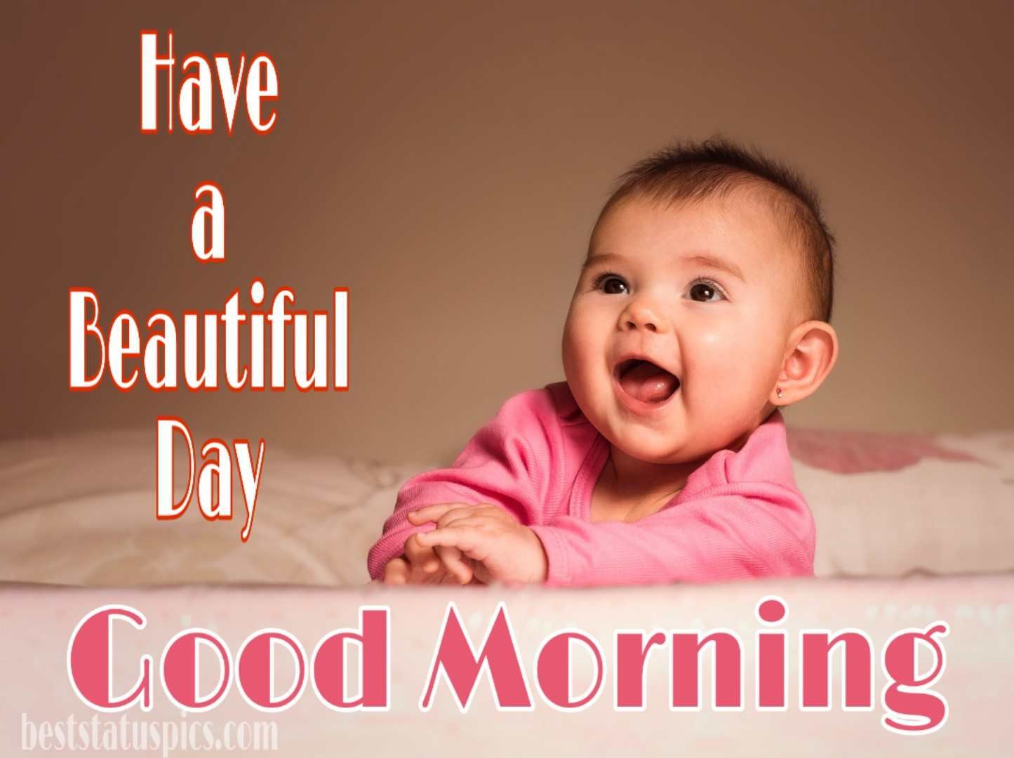 Good morning wishes with cute baby photo