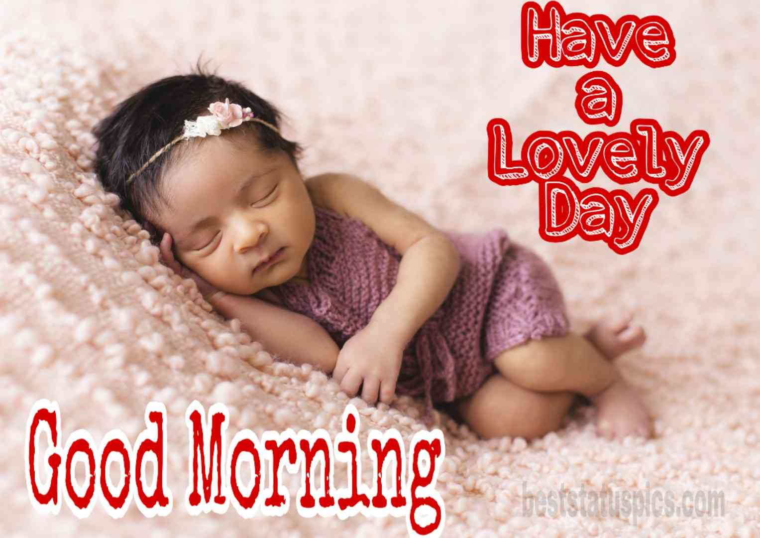 Cute little baby good morning images