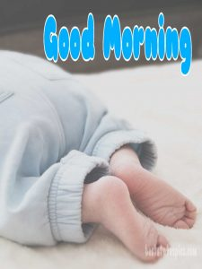 Good morning image HD with sweet little baby