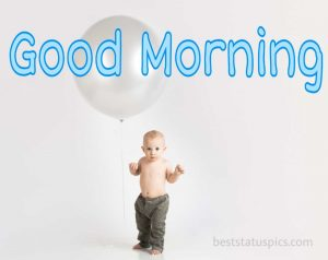 Download good morning kids image for Whatsapp dp and Facebook profile