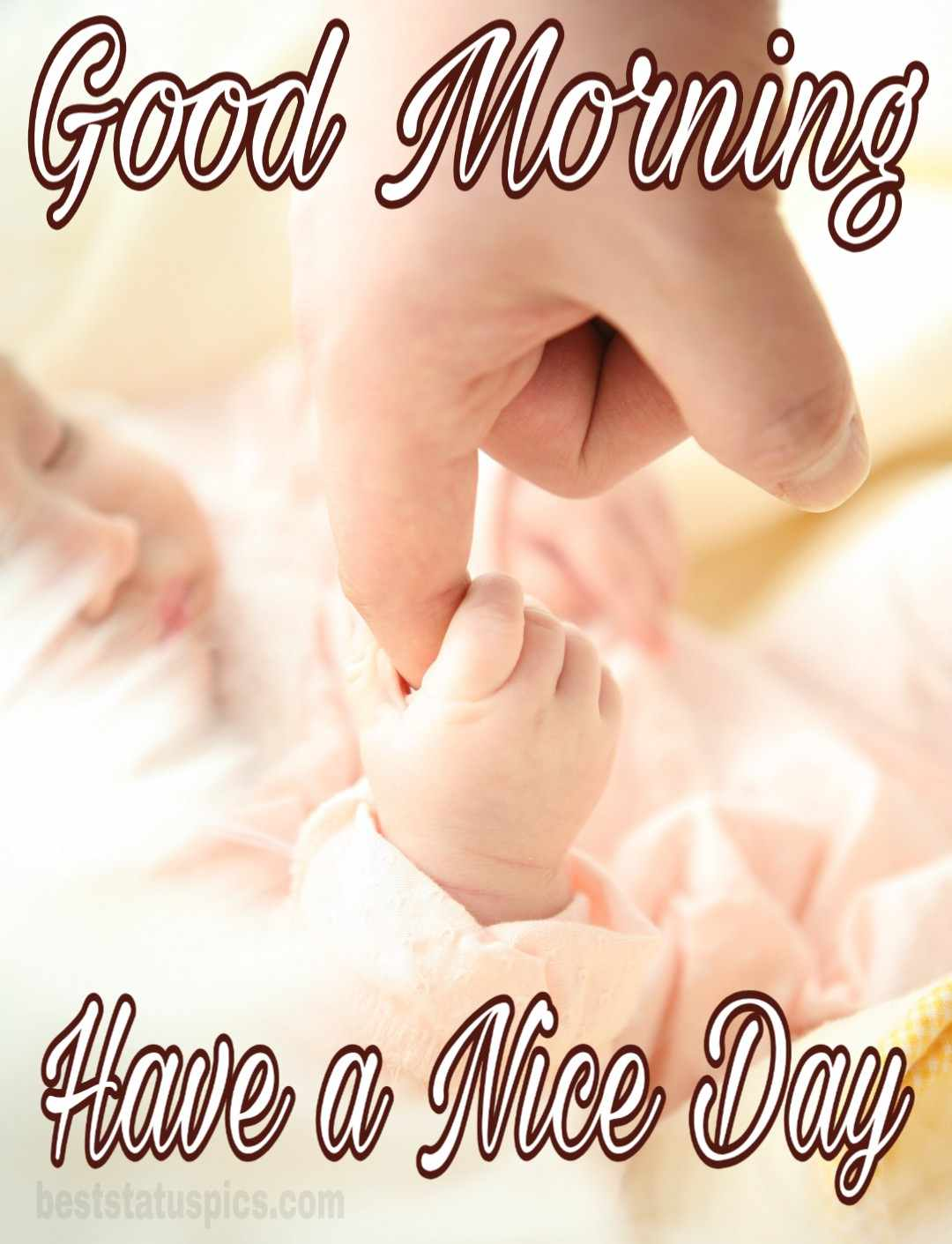 Cute baby good morning wishes image