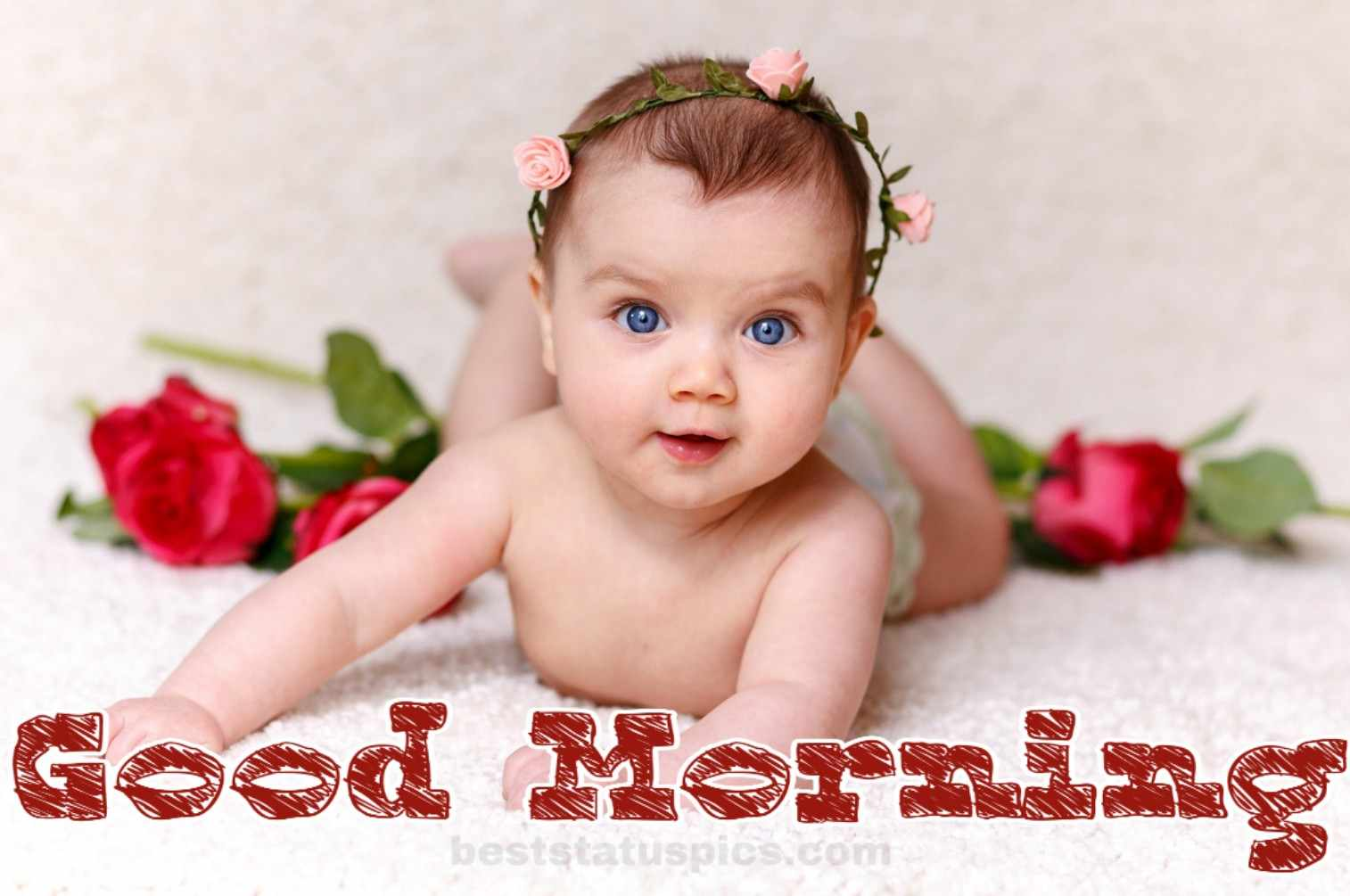 Cute good morning baby images whatsapp 23