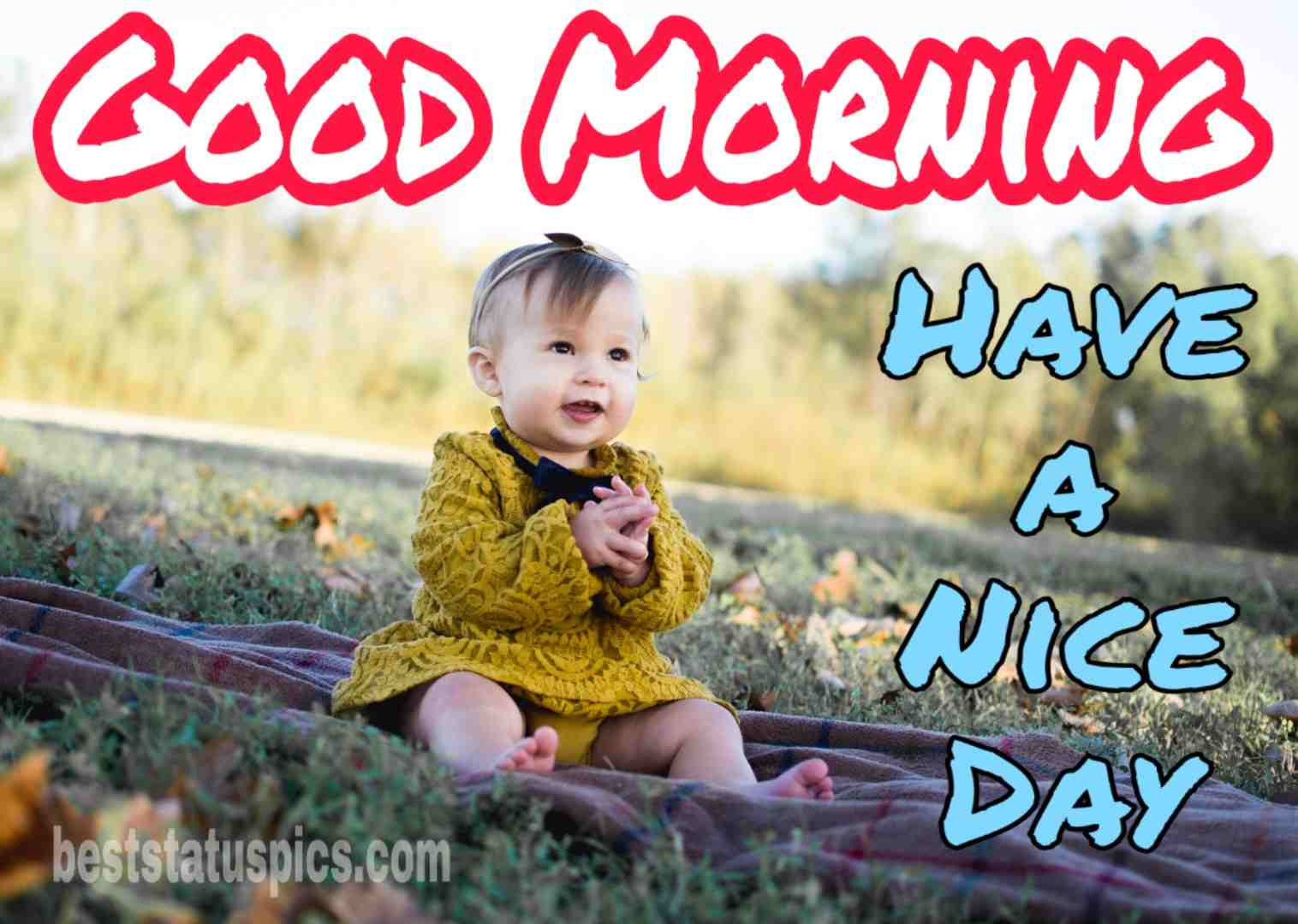 Good morning cute baby girl images whatsapp