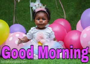 Cute good morning baby girl pic for facebook dp