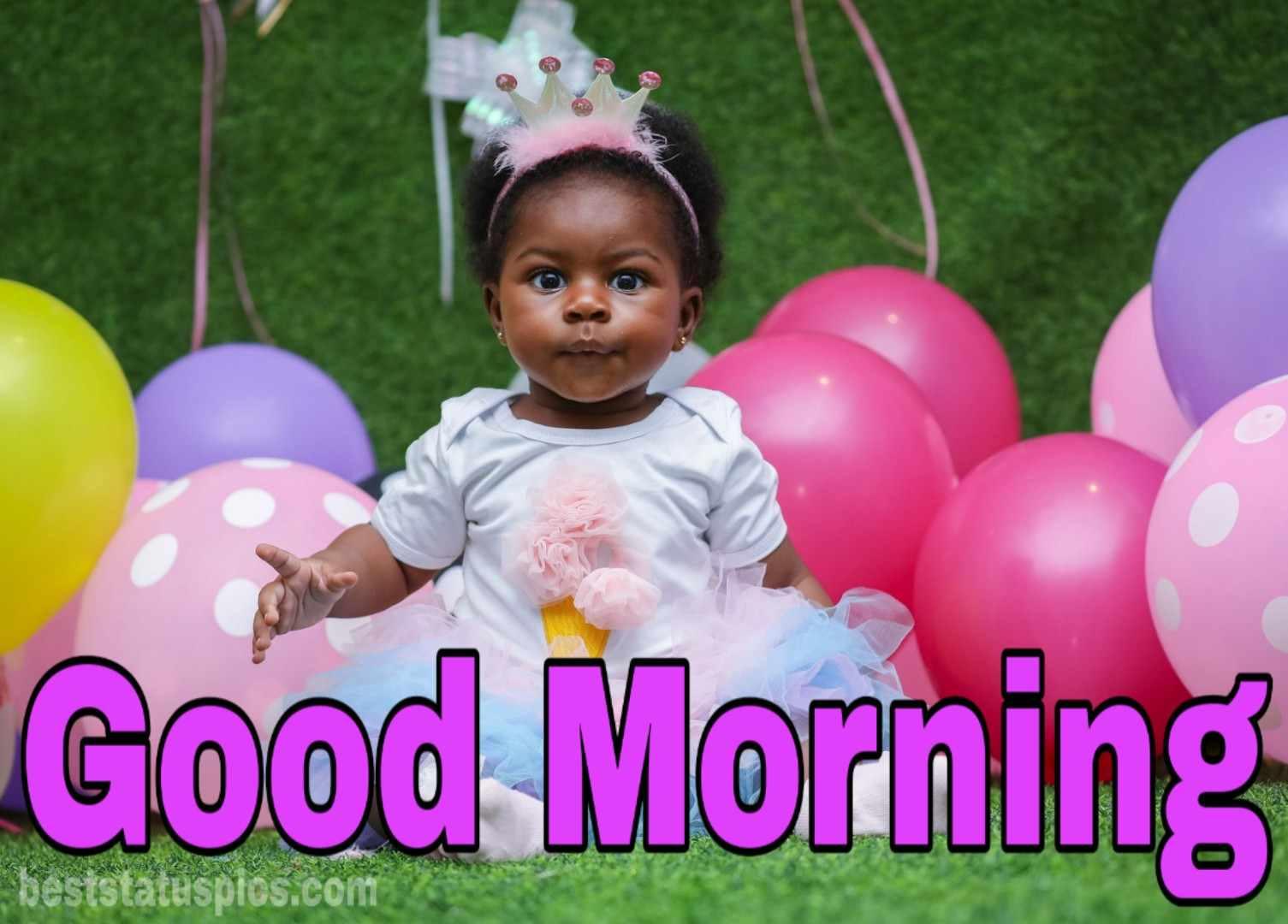 Cute good morning baby girl pic facebook