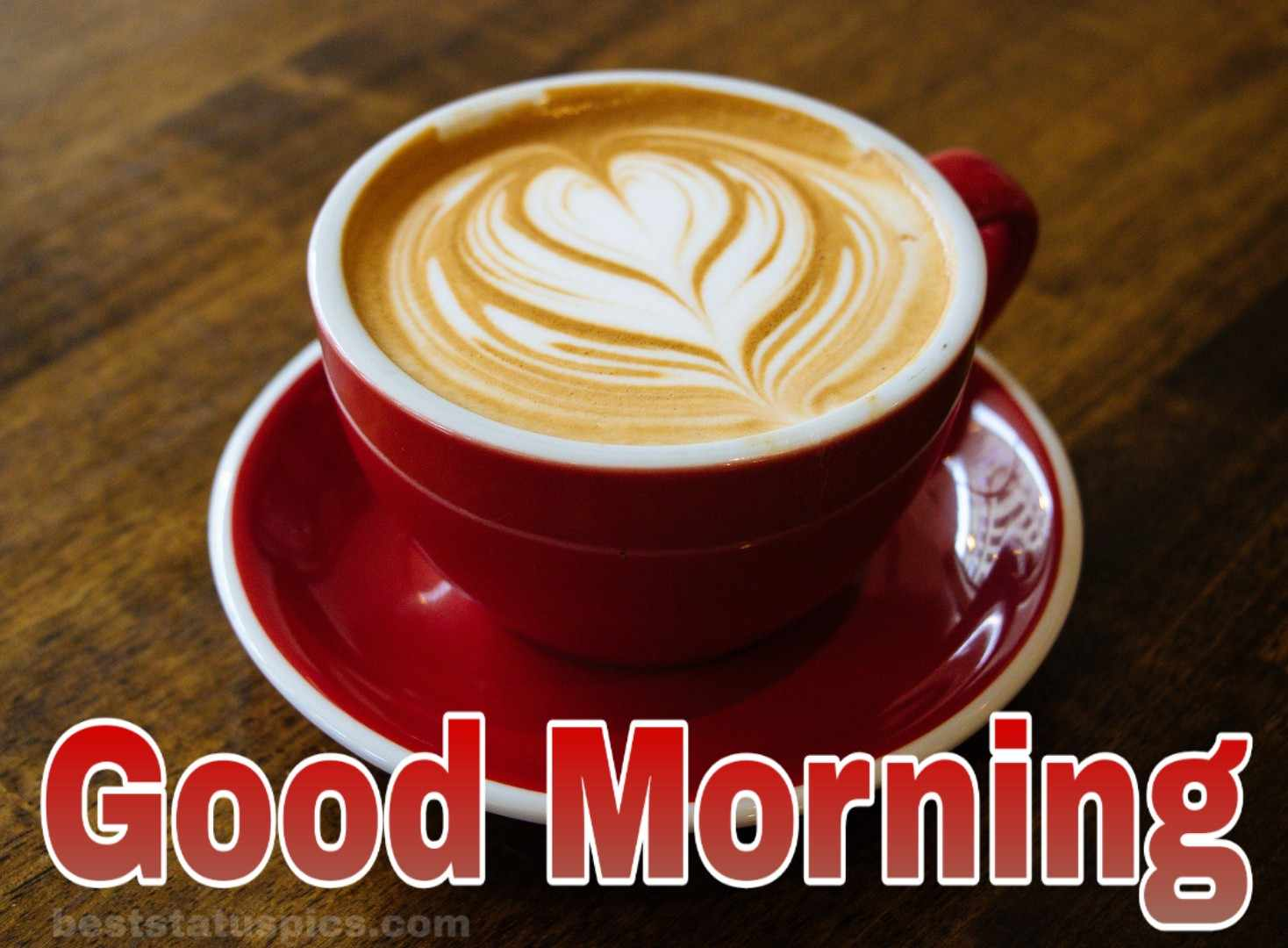 Good morning coffee cup photo with love and heart symbol