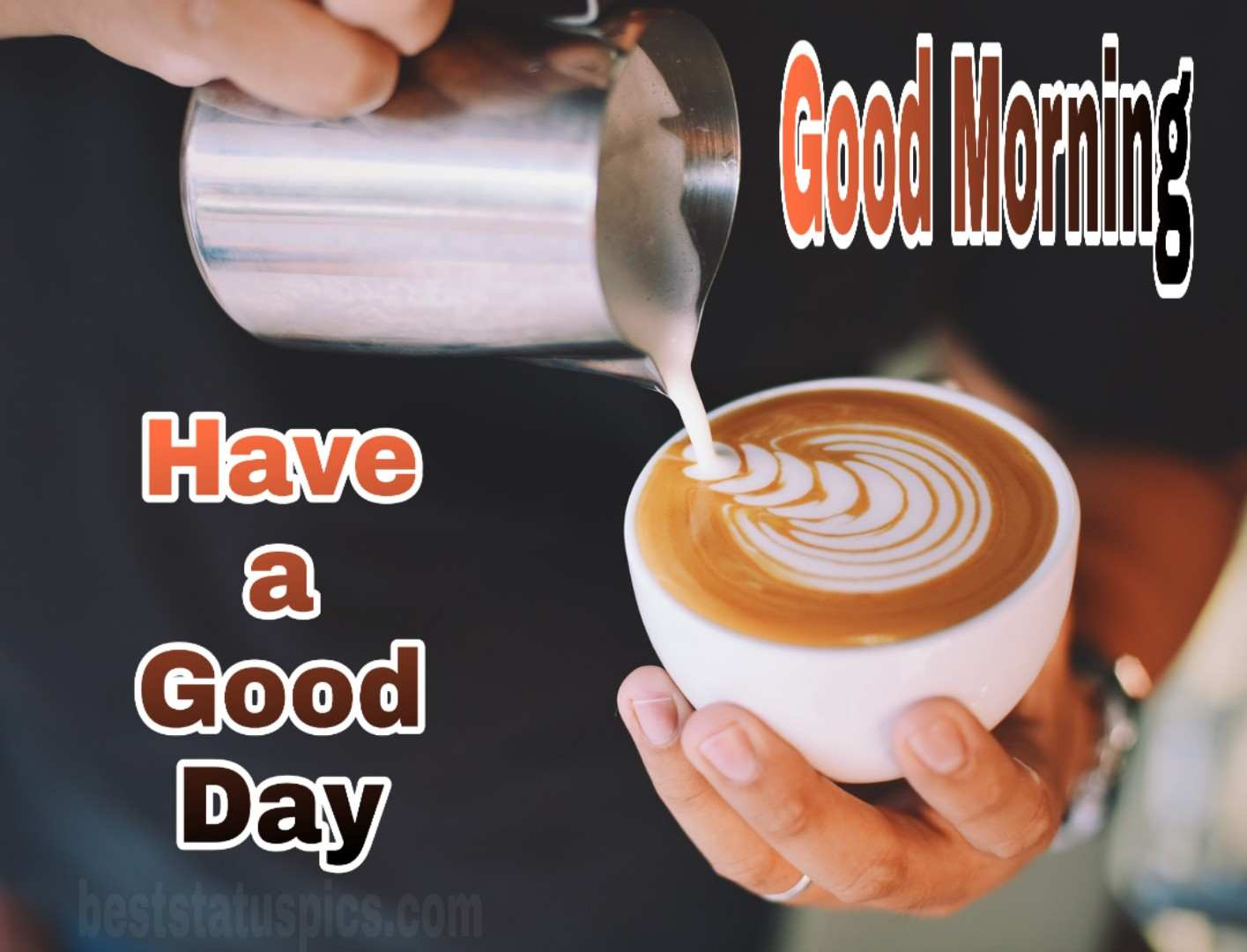 Good morning hot coffee image with have a good day