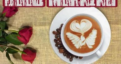 Good Morning Coffee Images With Cup and Flowers Whatsapp Dp