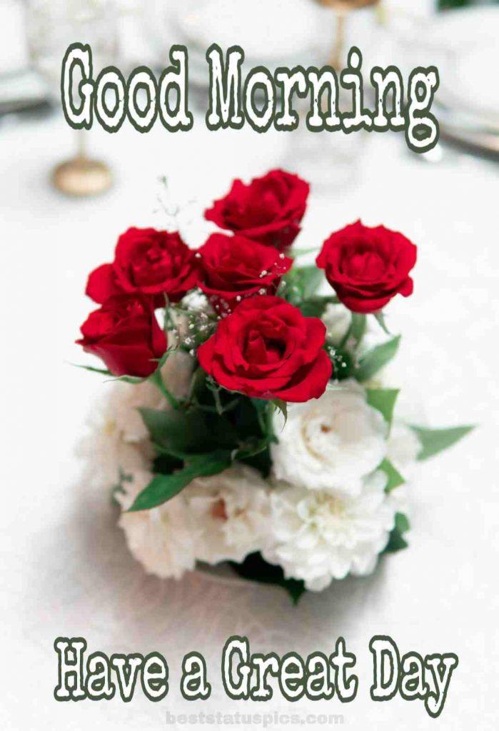 Good morning rose image for whatsapp