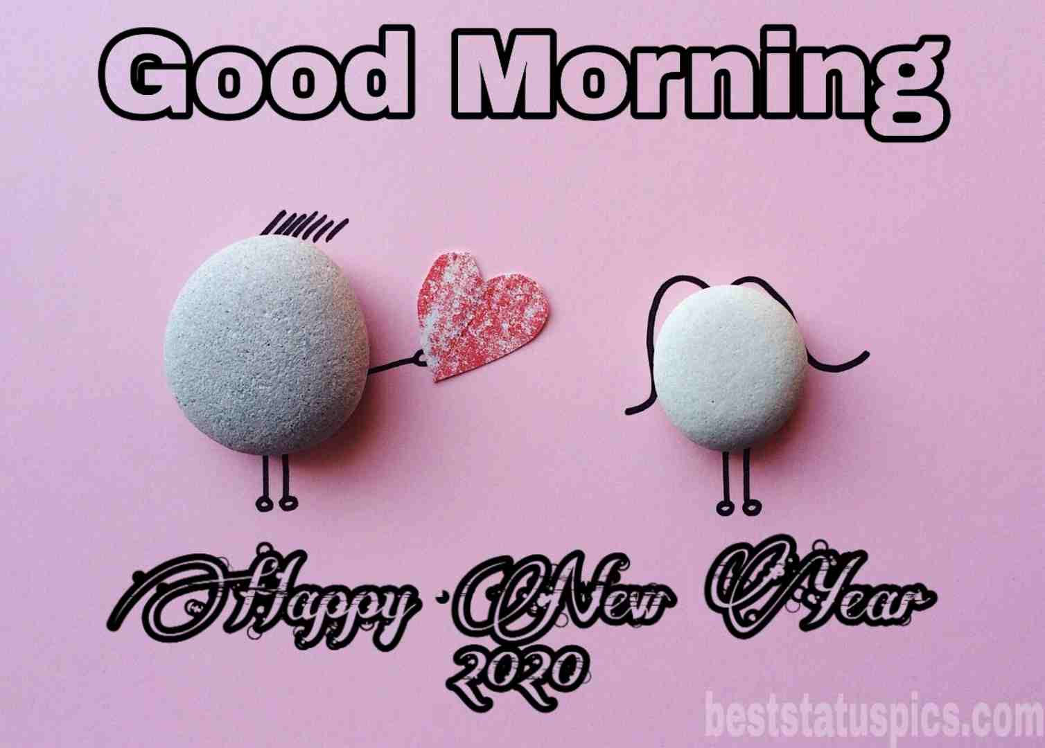 Download good morning happy new year 2020 image Whatsapp Dp