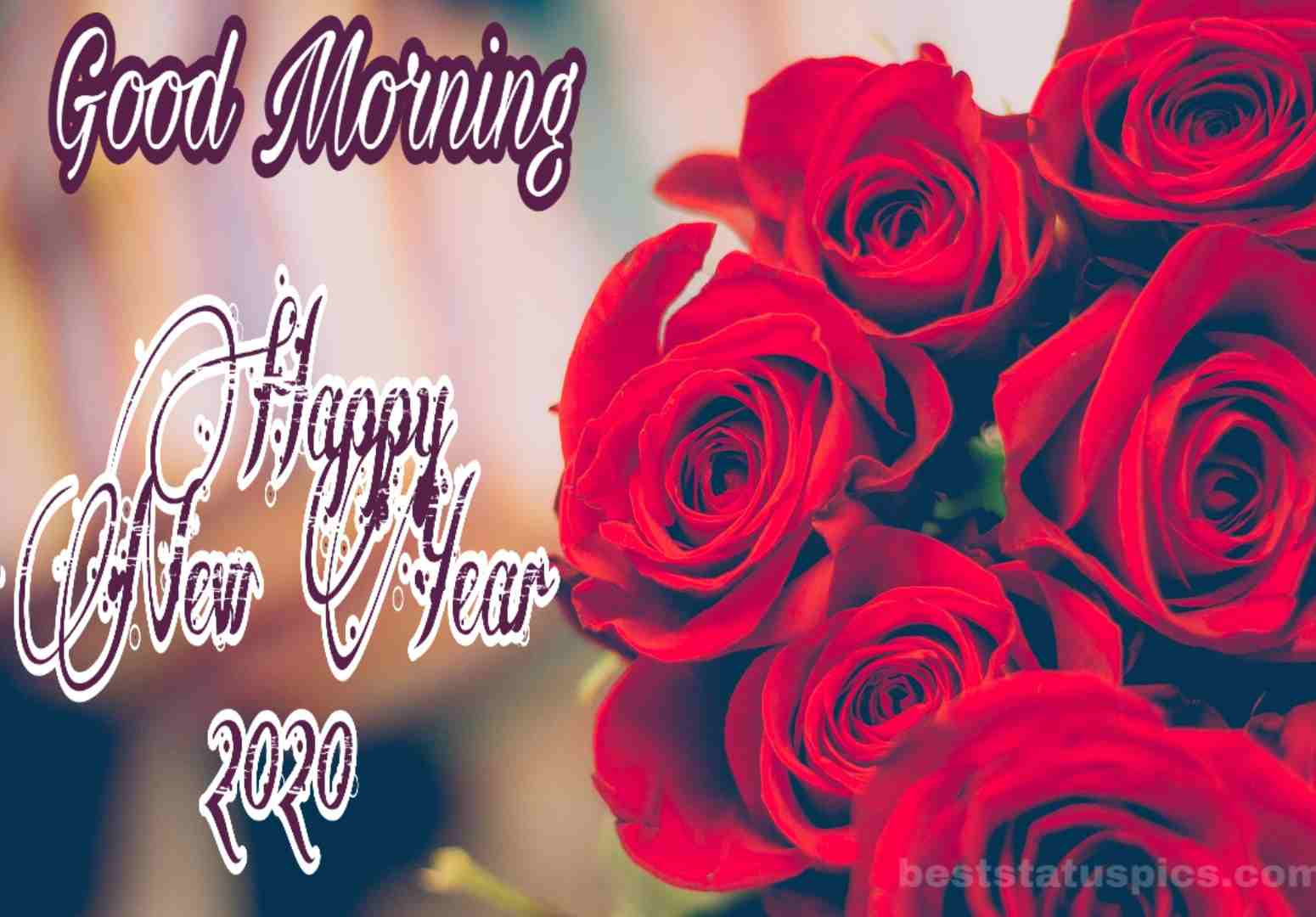 Good Morning Happy New Year 2020 Whatsapp Dp Status Images