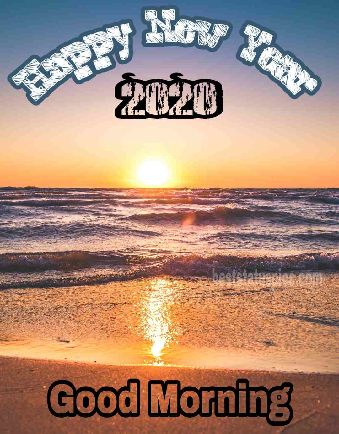 Good morning happy new year 2020 photo Instagram Story