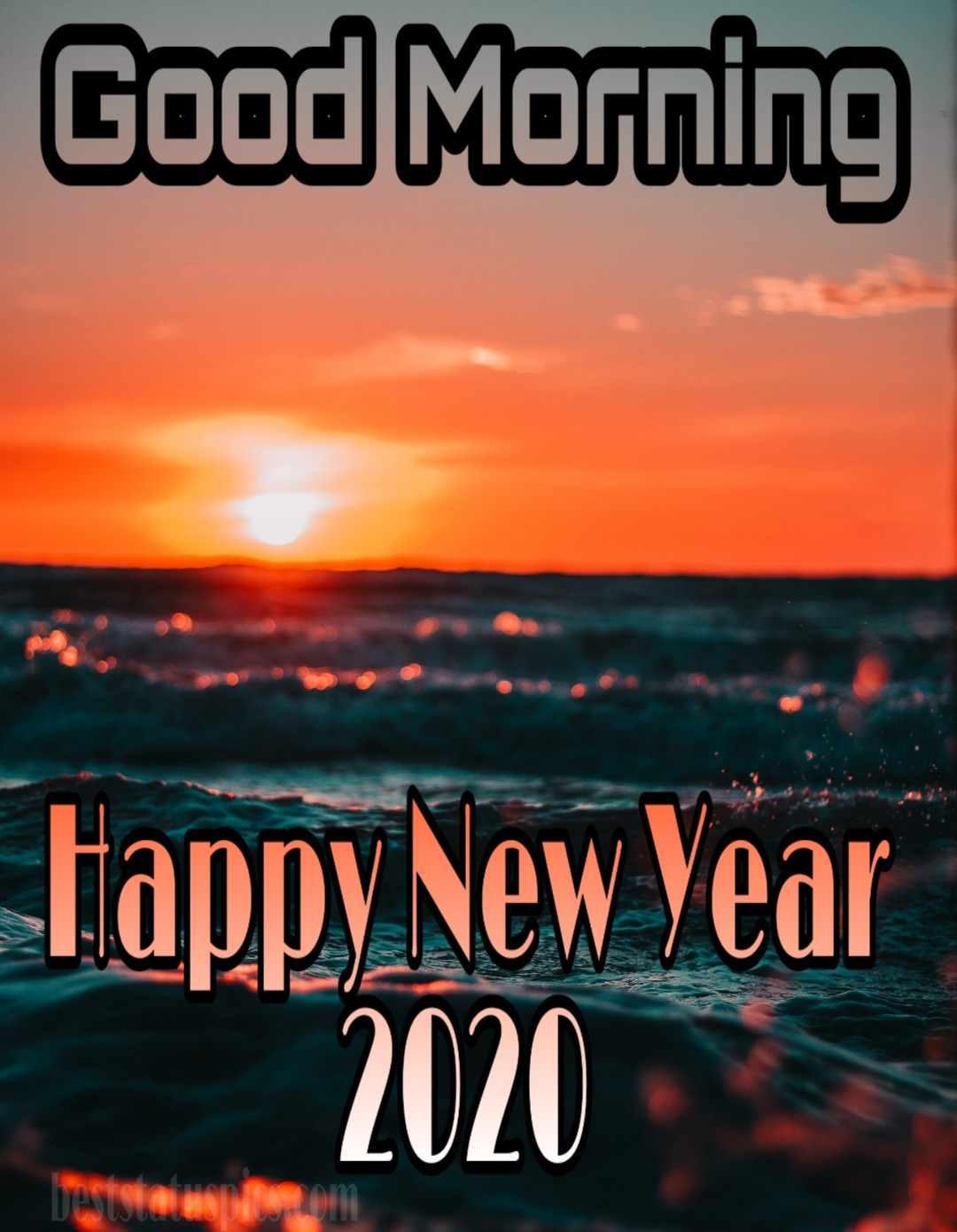 Good morning happy new year 2020 photo Whatsapp status