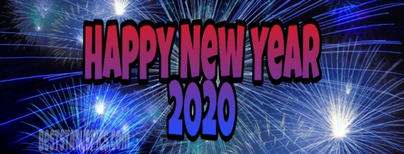 Happy New Year 2020 Facebook Cover Image