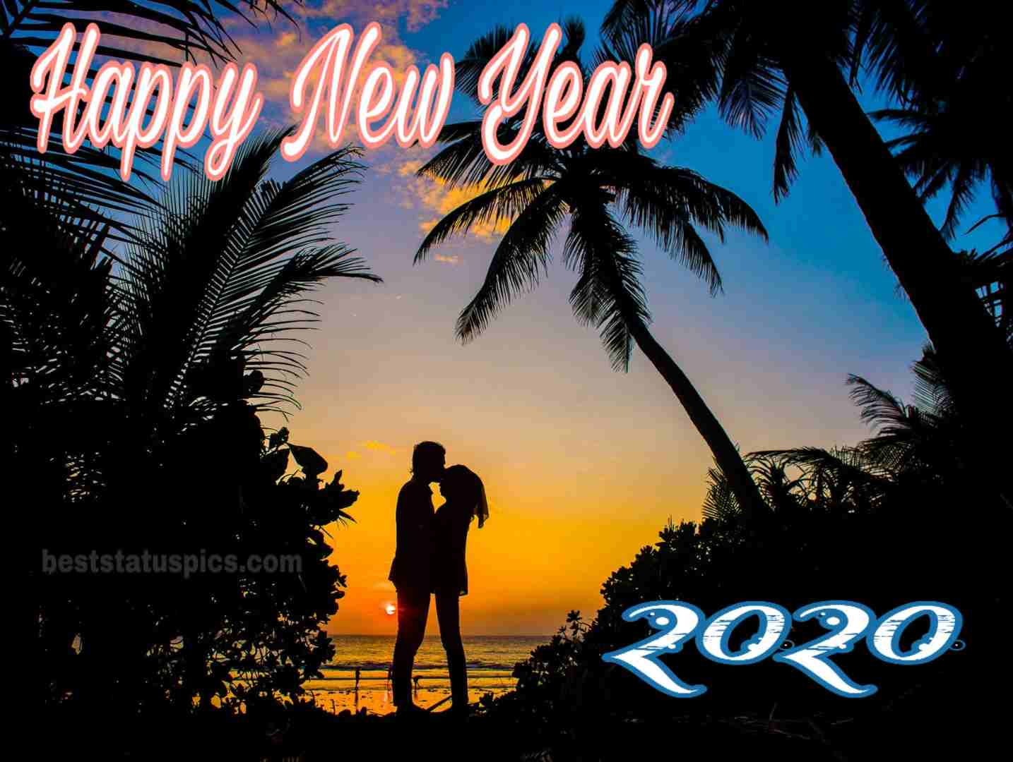 Happy New Year 2020 Image with love for Whatsapp message