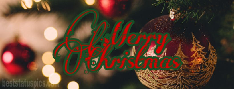 Merry Christmas 2019 Facebook Cover wish