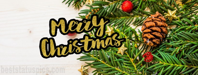 Merry Christmas 2019 Wishes Image Facebook Cover