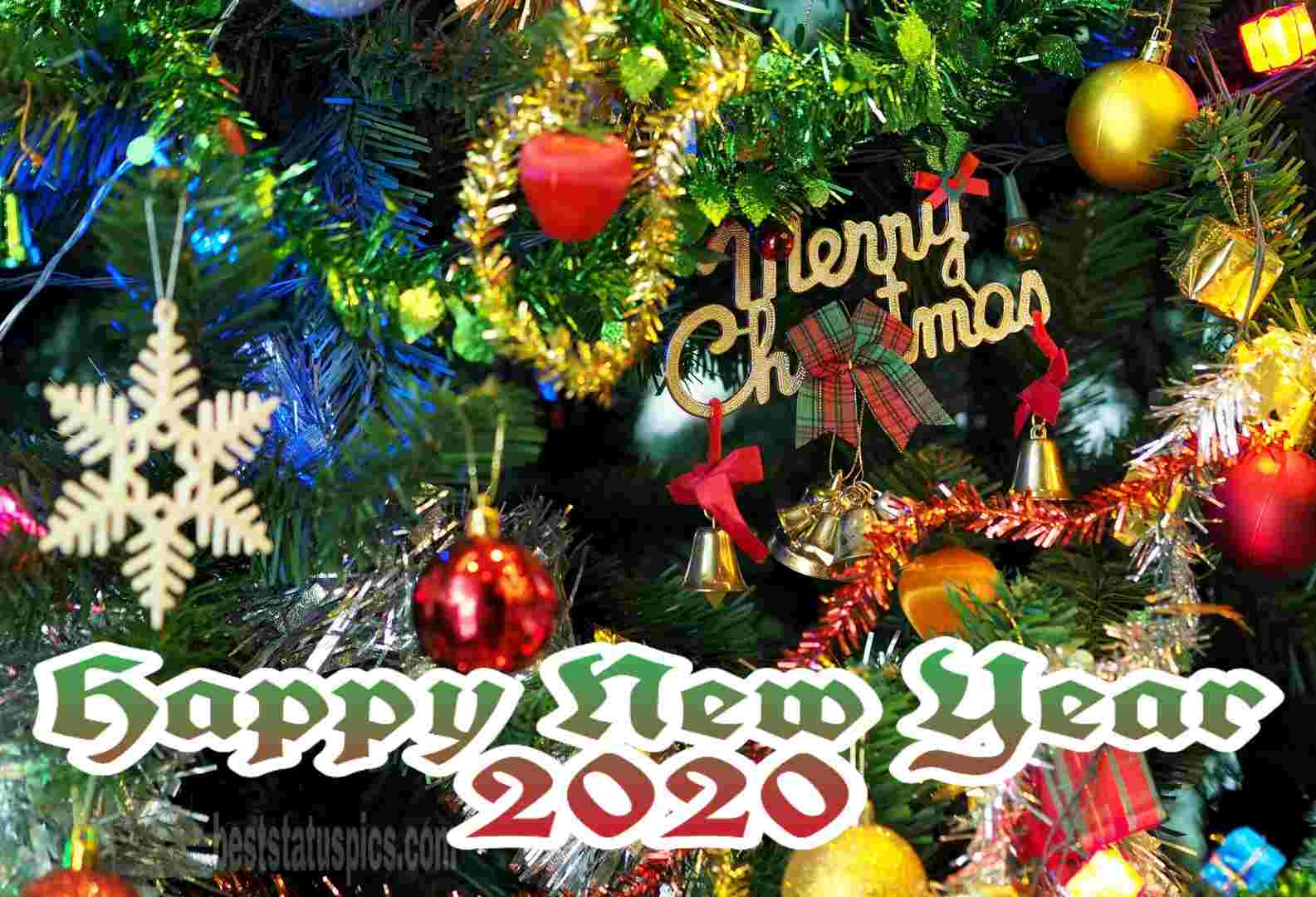 Merry Christmas Happy New Year 2020 Facebook Cover Whatsapp
