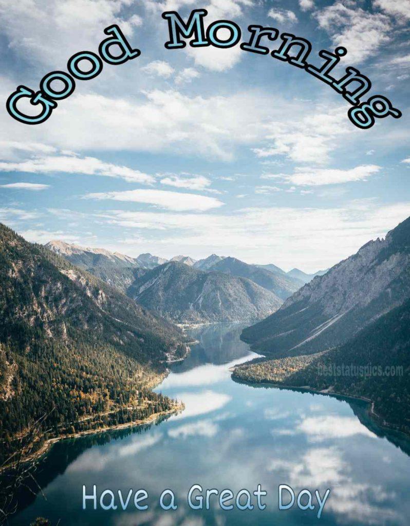 Good morning mountain river image
