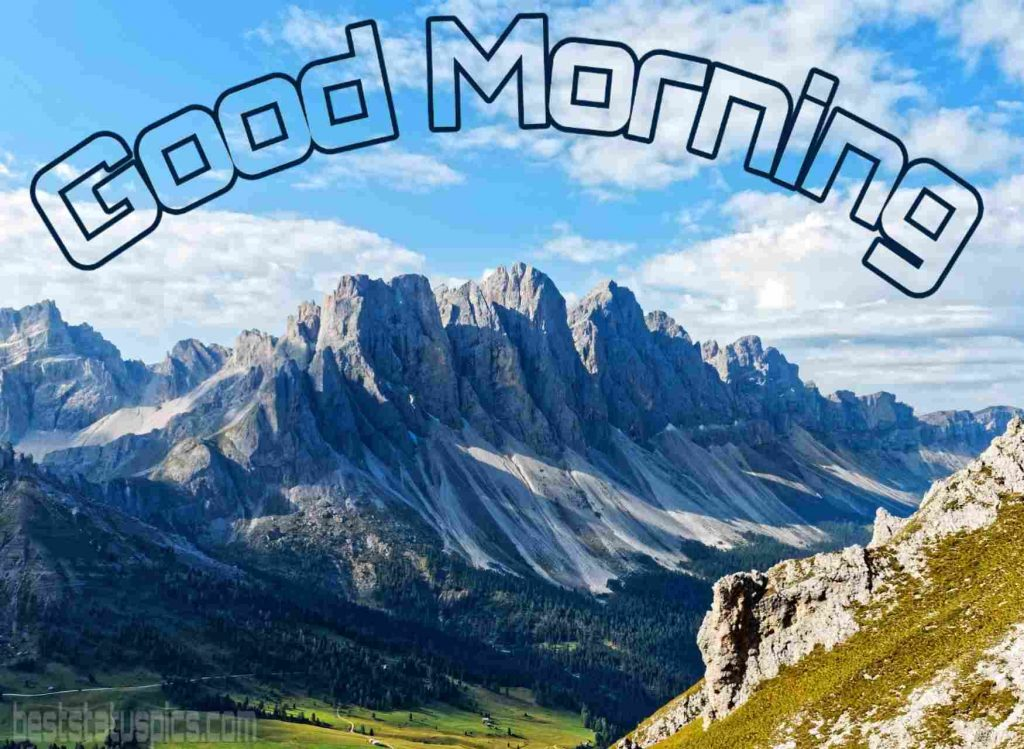 Good morning mountain nature image