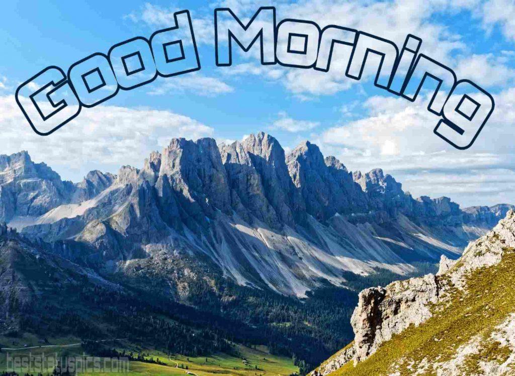 Good morning mountain nature image