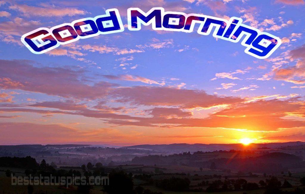 Good morning mountain sunrise photo