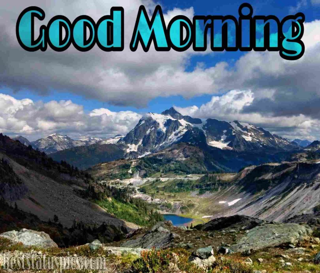 Good morning in mountain clouds