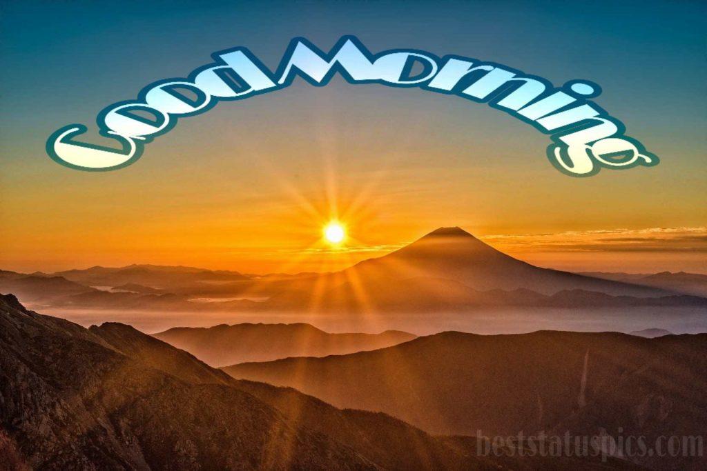 Good morning mountain view image