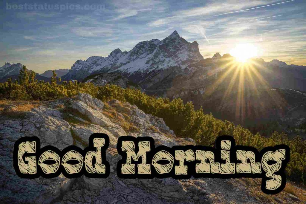 Good morning mountain images hd