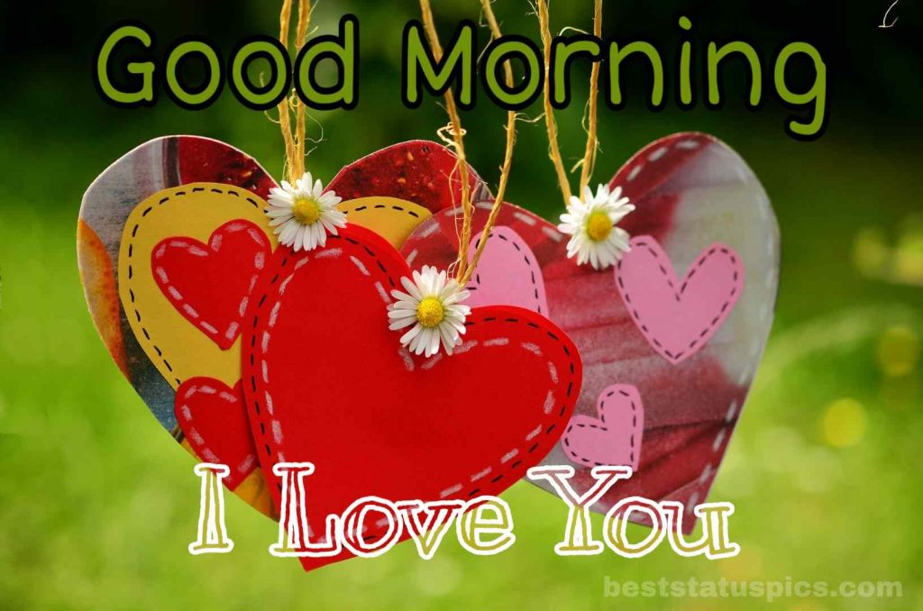 Love you good morning image with heart