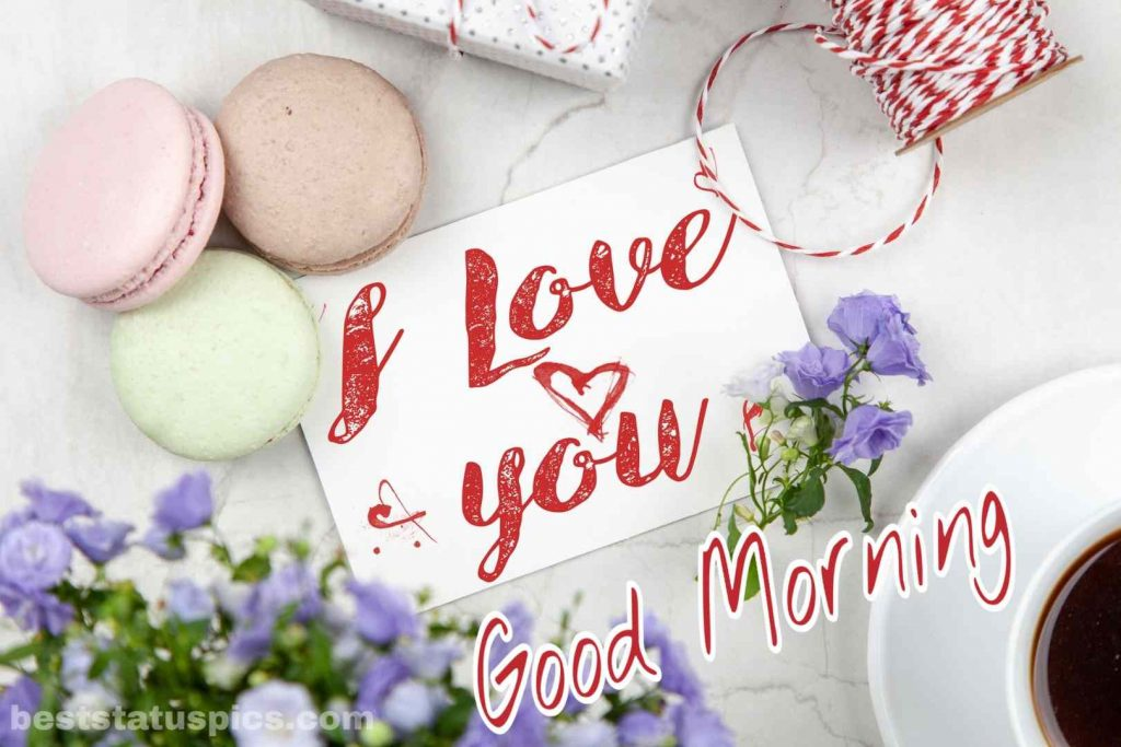 Good morning I love you image for lover