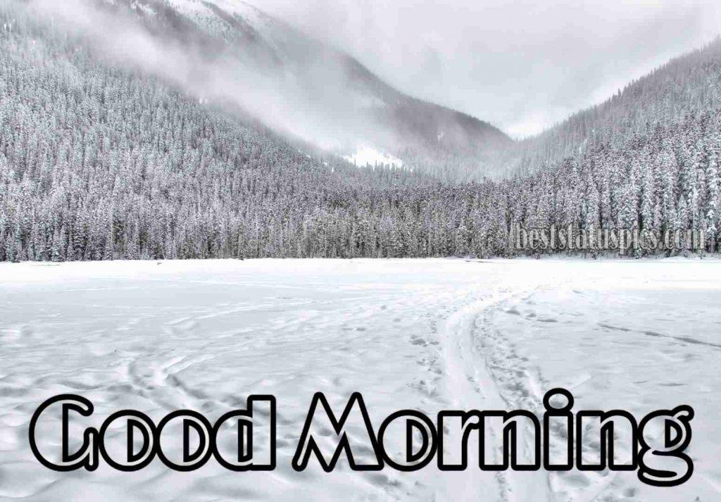 Winter snow good morning image