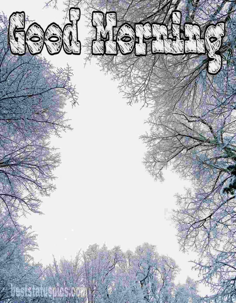 Good morning snow tree image