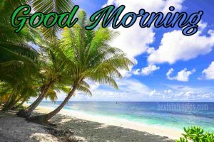 Good morning nature with sea beach beauty image for whatsapp