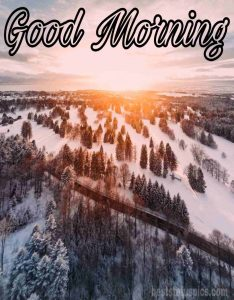Good morning nature with winter sunrise image HD