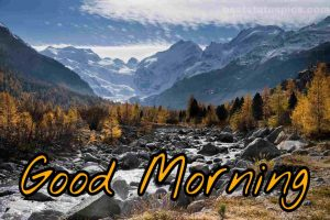 Good morning mountain nature images hd
