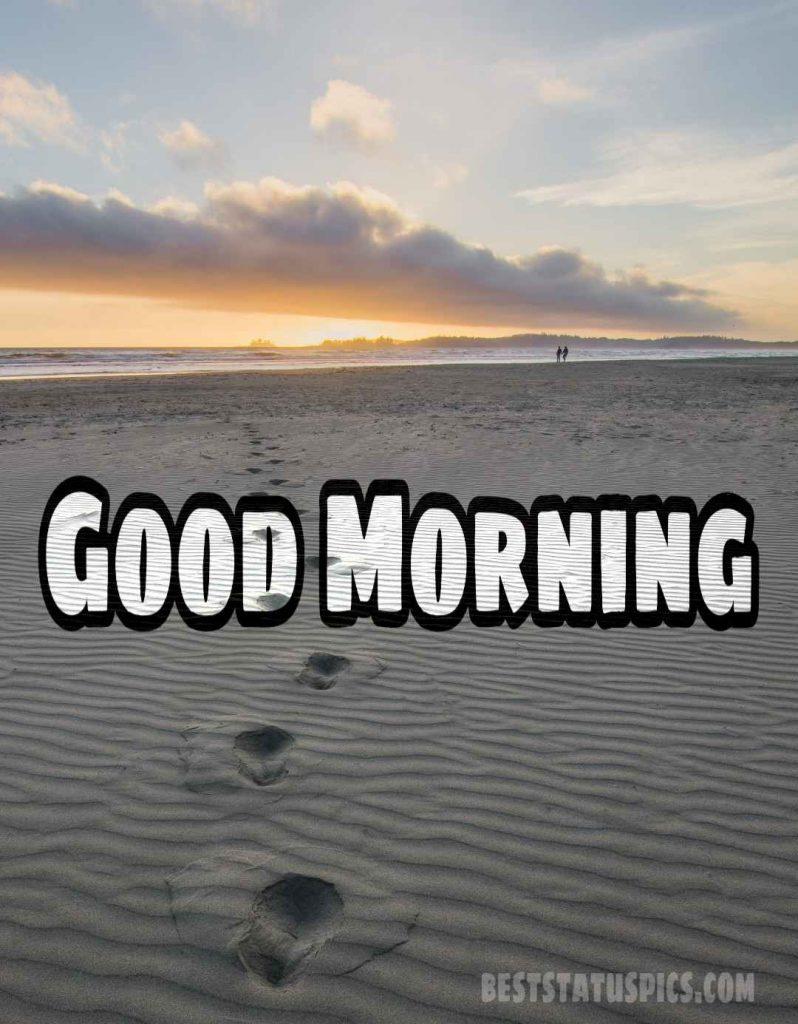 Good morning sea beach image