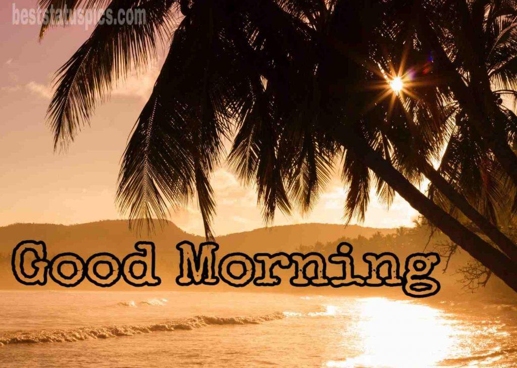 Good morning with sunshine sea image HD