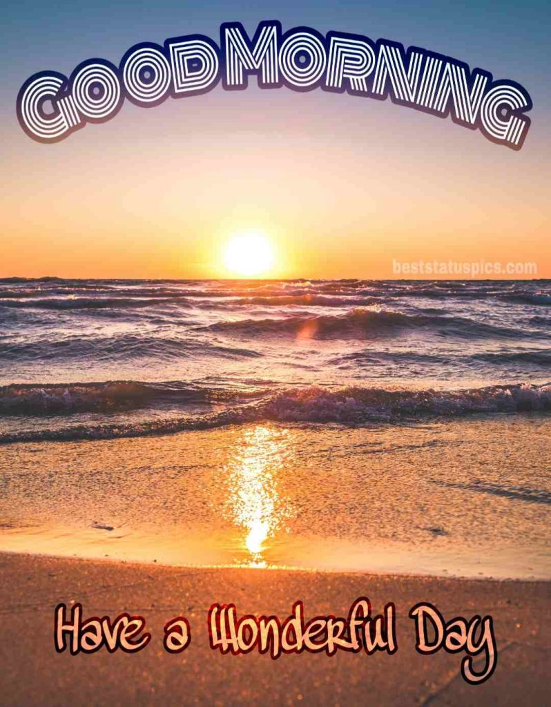Good morning sea view image with sunrise