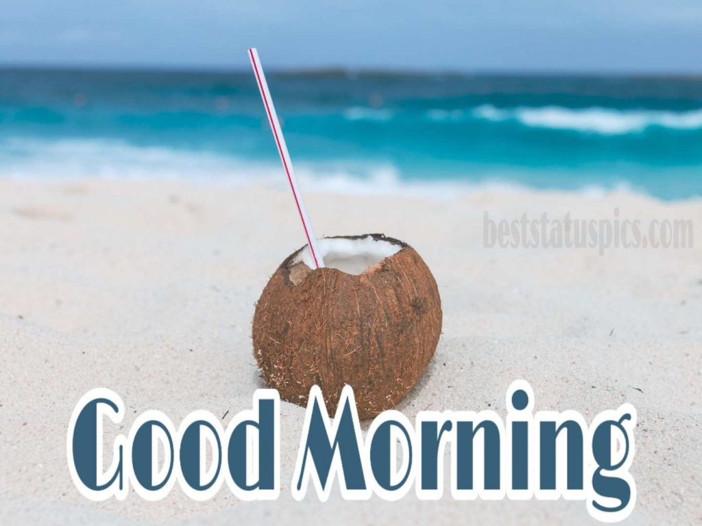 Good morning image with sea and beach HD