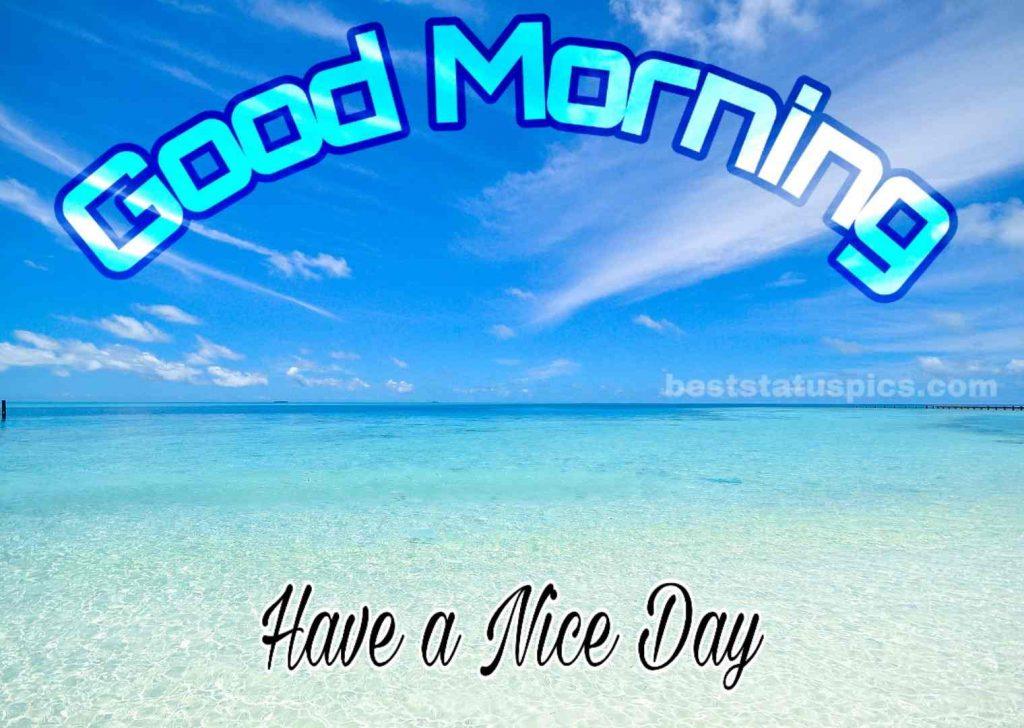 Good morning sea image