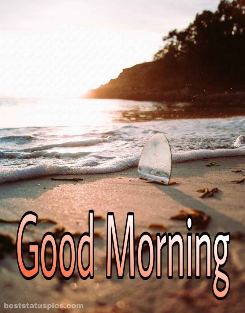 Good morning sea and beach picture