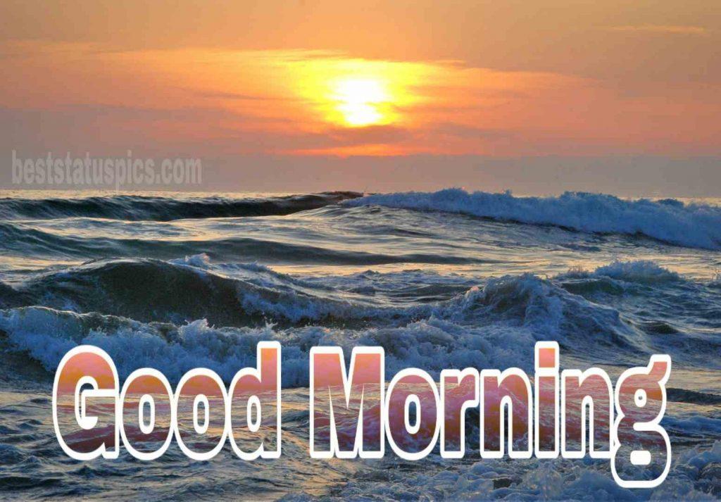 Good morning seashore with sunrise image HD