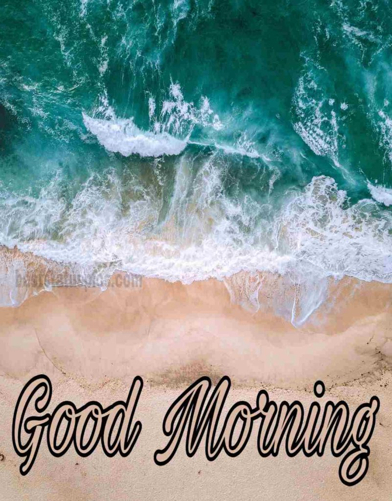 Good morning image with seashore