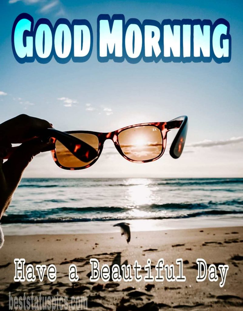 Good morning sunrise beach image