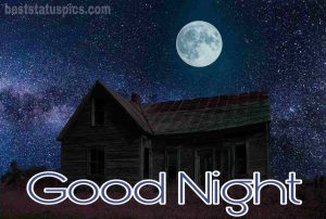 Beautiful good night moon image
