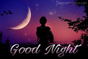 Romantic good night moon image