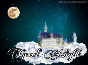 Good night image of fantasy moon